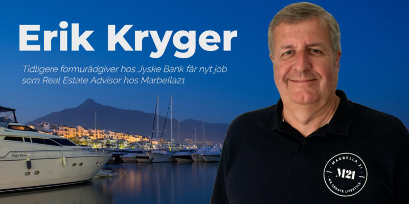 Erik Kryger fra Jyske Bank tiltræder ny stilling hos Marbella 21