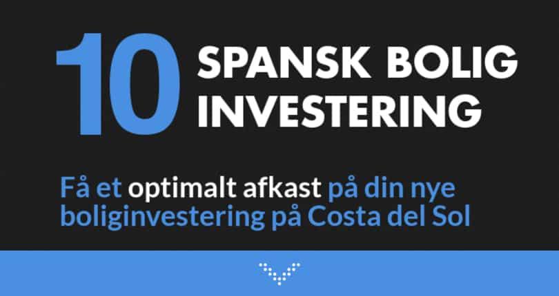 Spansk bolig investering og ferie i ét med højt afkast