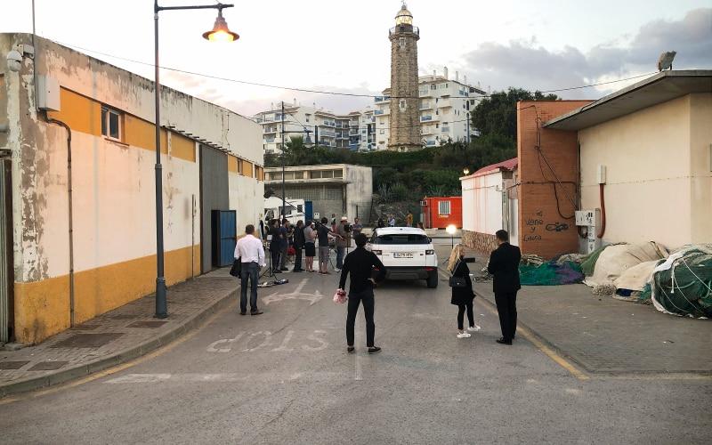 Filmoptagelser i Estepona fiskerihavn